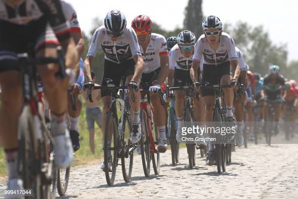 Christopher Froome of Great Britain and Team Sky / Geraint Thomas of Great Britain and Team Sky / John Degenkolb of Germany and Team Trek Segafredo /...
