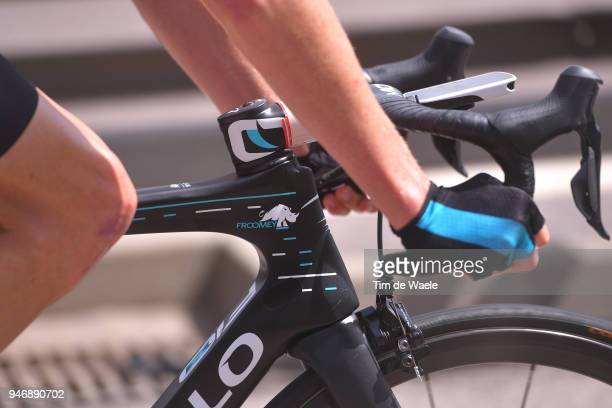 Christopher Froome of Great Britain and Team Sky / Illustration / Rhinoceros / Bike / during the 42nd Tour of the Alps 2018 Stage 1 a 1346km stage...