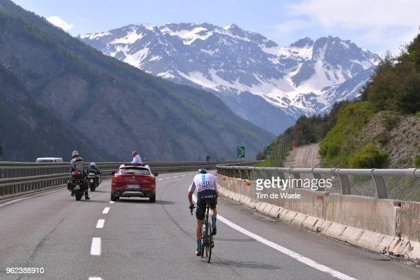 Christopher Froome of Great Britain and Team Sky / Landscape / Mountains / during the 101st Tour of Italy 2018 Stage 19 a 185km stage from Venaria...