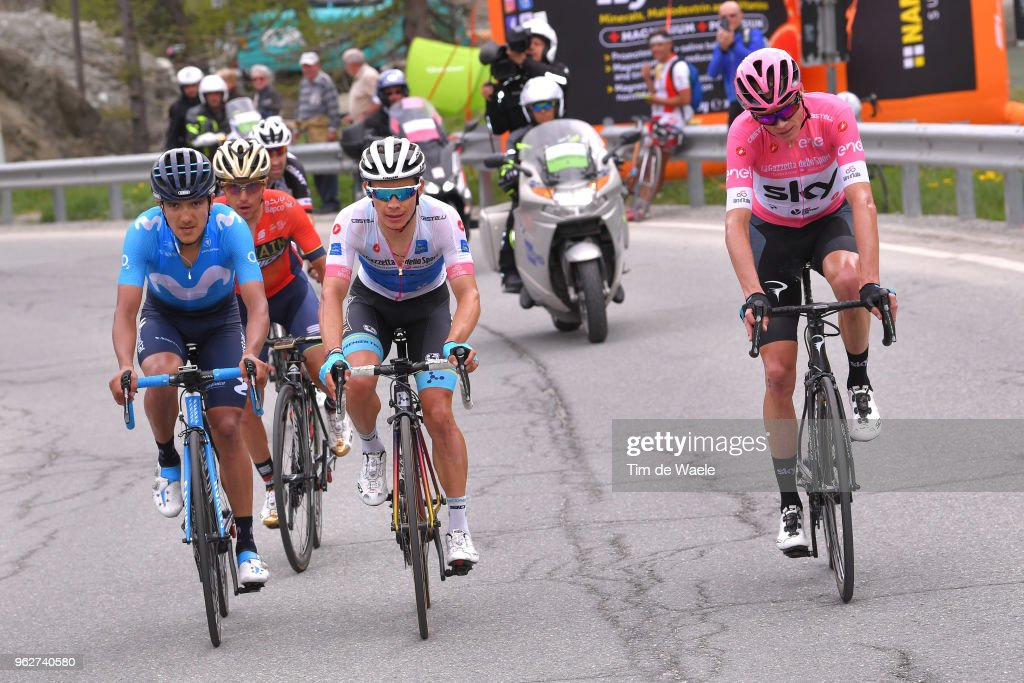 a21328431 Christopher Froome of Great Britain and Team Sky Pink Leader Jersey ...