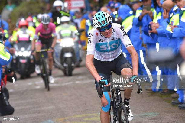Christopher Froome of Great Britain and Team Sky / Simon Yates of Great Britain and Team MitcheltonScott Pink Leader Jersey / Fans / Public / during...