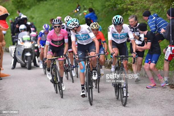 Christopher Froome of Great Britain and Team Sky / Wout Poels of The Netherlands and Team Sky / Simon Yates of Great Britain and Team...