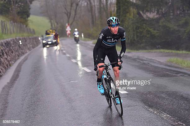 Christopher Froome of Great Britain and Tejay van Garderen of USA in the attack during stage 4 of the Tour de Romandie on April 30, 2016 in...