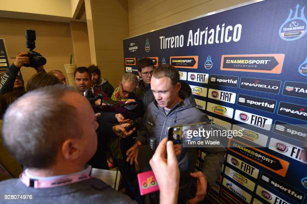 Christopher Froome of Great Britain attends the 53rd TirrenoAdriatico 2017 / Press Conference on March 6 2018 in Tuscany Italy