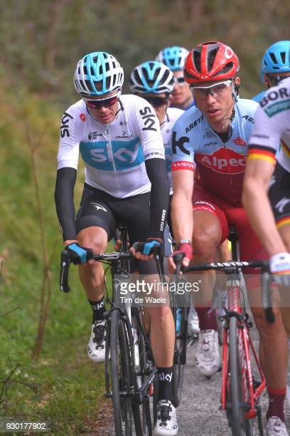 Christopher Froome of Great Britain / during the 53rd TirrenoAdriatico 2018 Stage 4 a 219km stage from Foligno to Sarnano Sassotetto 1335m on March...