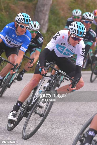 Christopher Froome of Great Britain / Geraint Thomas of Great Britain Blue Leader Jersey riding for Team Sky of Great Britain / during the 53rd...