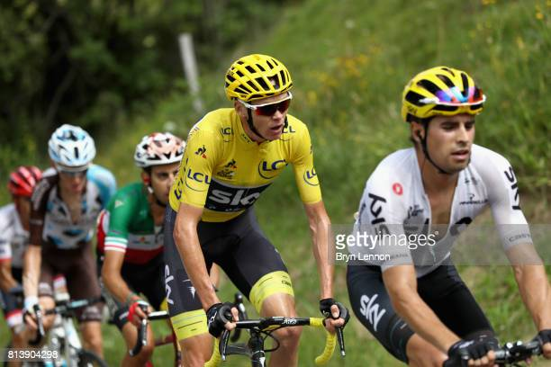 Christopher Froome of Great Britain riding for Team Sky in action during stage 12 of the Le Tour de France 2017, a 214.5km stage from Pau to...