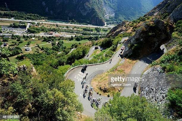 Christopher Froome of Team Sky competes during Stage Eighteen of the Tour de France on Thursday 23 July 2015, Saint Jean de Maurienne, France.