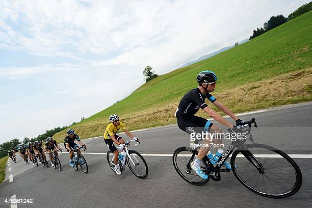 Christopher Froome of TEAM SKY during Stage Two of the Criterium du Dauphine on June 8 2015 in Le Bourget du Lac France