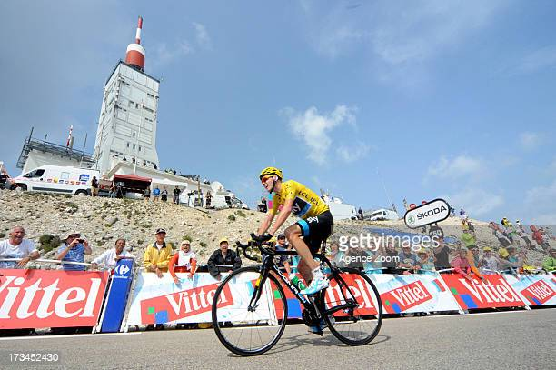 Christopher Froome of Team Sky Procycling winning Stage 15 of the Tour de France on Sunday 14 July Givors to Mont Ventoux France