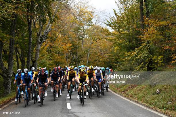 Christopher Froome of The United Kingdom and Team INEOS - Grenadiers / Michal Golas of Poland and Team INEOS - Grenadiers / Lennard Hofstede of The...