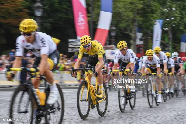 Christopher Froome team sky during the stage 21 from Montgeron to Paris at Avenue Des Champs Elysees on July 23 2017 in Paris France