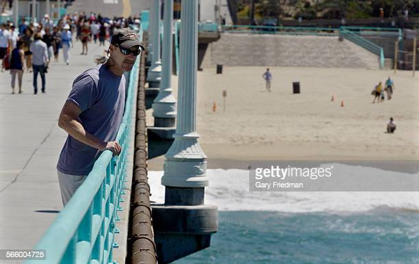 Christopher G Lowe PhD and professor shark fisheries biologist at California State University Long Beach is photographed at the Manhattan Beach pier...