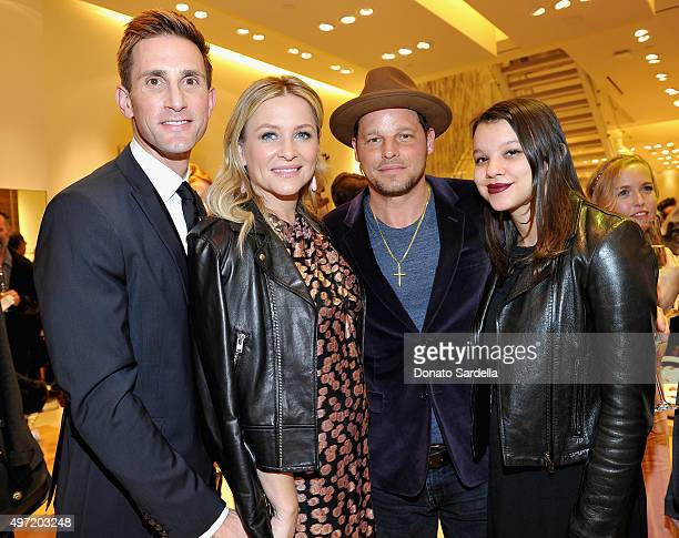 Christopher Gavigan actors Jessica Capshaw and Justin Chambers and Isabella Chambers attend 'MaxMara Allure Celebrate ABC's #TGIT' at MaxMara on...