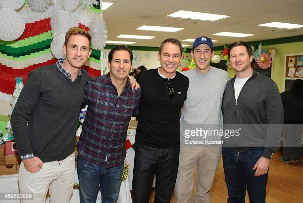 Christopher Gavigan Brian Weinstein Marcus Buckingham Charles Nelson and Miles Bowman attends the Third Annual Baby2Baby Holiday Party presented by...