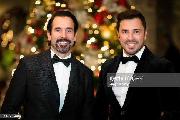 Christopher Gialanella and George Satsadis attend The Thalians Holiday Party with Kira Reed Lorsch as Chair at Bel Air Country Club on December 1...