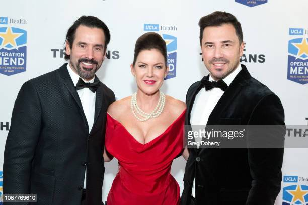 Christopher Gialanella and George Satsadis join Kira Reed Lorsch as they attend The Thalians Holiday Party with Kira Reed Lorsch as Chair at Bel Air...
