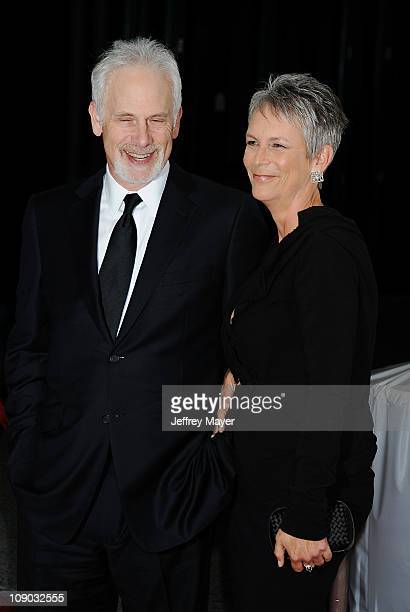 Christopher Guest and Jamie Lee Curtis arrive at the 2011 MusiCares Person Of the Year Honoring Barbra Streisand at Los Angeles Convention Center on...