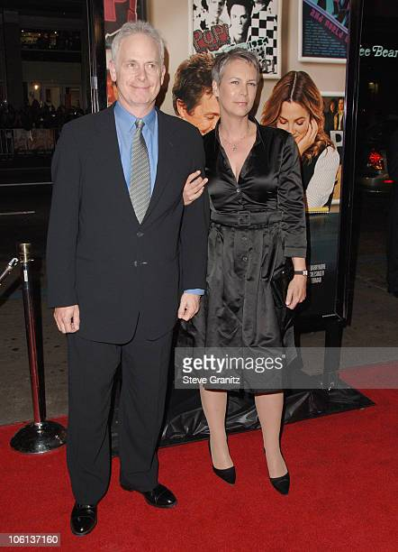 Christopher Guest and Jamie Lee Curtis during Music and Lyrics Los Angeles Premiere Arrivals at Grauman's Chinese Theatre in Hollywood California...
