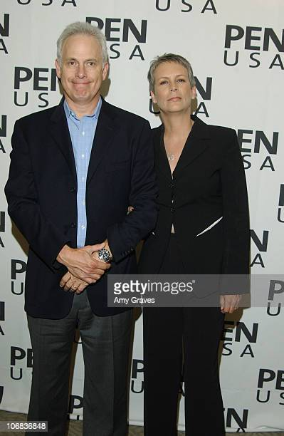 Christopher Guest and Jamie Lee Curtis during PEN USA Presents Forbidden Fruit Readings from Banned Works of Literature Arrivals and Inside at LUXE...