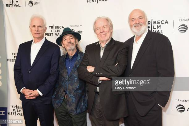 Christopher Guest Harry Shearer Michael McKean and Rob Reiner attend 'Anniversary Film This is Spinal Tap35 Years' at Beacon Theatre on April 27 2019...