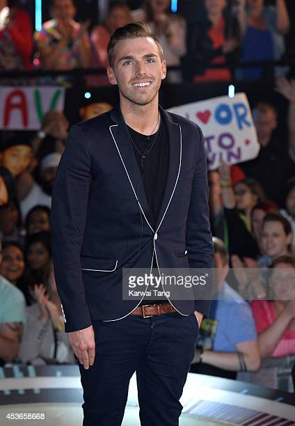 Christopher Hall is evicted from the Big Brother house 2014 at Elstree Studios on August 15 2014 in Borehamwood England