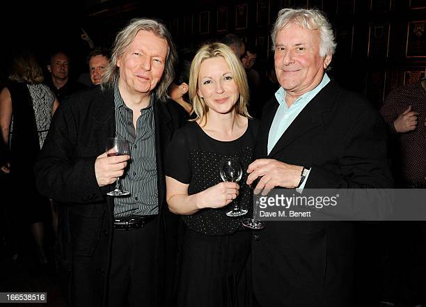 Christopher Hampton Lisa Dillon and Richard Eyre attend a party to celebrate Michael Attenborough's 11 years as Artistic Director of the Almeida...