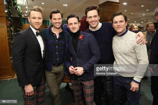 Christopher Hanke Andrew Rannells Max von Essen Erich Bergen and Michael Doyle attend as Brooks Brothers celebrates the holidays with St Jude...