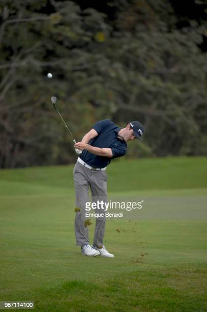 Christopher Hickman of the United States hits from the second fairway during the second round of the PGA TOUR Latinoamérica Guatemala Stella Artois...