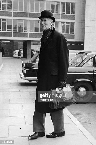 Christopher Hinton Baron Hinton of Bankside arrives at the Ministry of Transport to take up his new post as Government Advisor on Traffic...