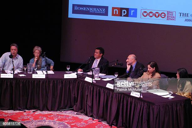 Christopher Hitchens Signe Wilkinson Jeffrey Toobin David Cesarani Daisy Khan and Mari Matsuda attend INTELLIGENCE SQUARED presents 'Freedom of...
