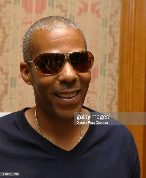Christopher Ivery wearing Dior 1S Sunglasses during Solstice Sunglass Boutique at the Lucky/Cargo Club Day 2 at Ritz Carlton in New York City New...
