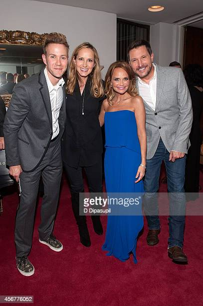 Christopher J Hanke Chely Wright Kristin Chenoweth and Ty Herndon pose backstage after the I Am Harvey Milk Benefit Concert at Avery Fisher Hall...