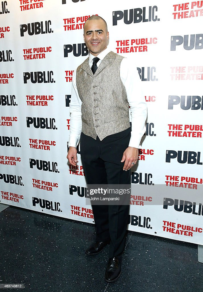 Christopher Jackson attends 'Hamilton' Opening Night at The Public Theater on February 17, 2015 in New York City.