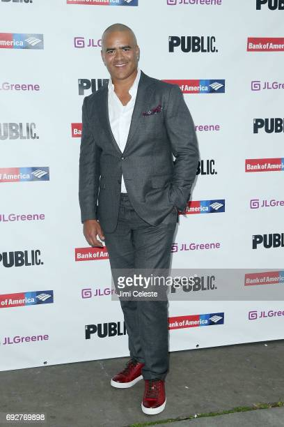 Christopher Jackson attends the 2017 Public Theater Gala at Delacorte Theater on June 5 2017 in New York City