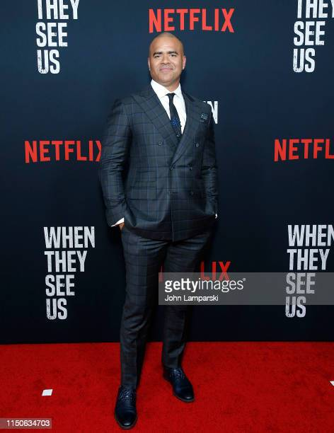 Christopher Jackson attends When They See Us World Premiere at The Apollo Theater on May 20 2019 in New York City