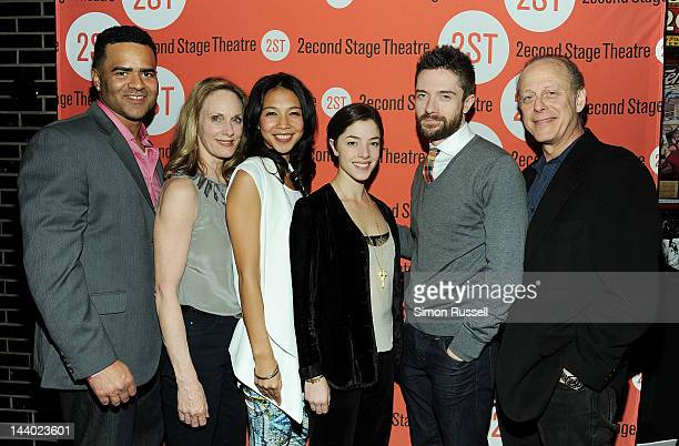 Christopher Jackson Lisa Emery Maureen Sebastian Olivia Thirlby Topher Grace and Mark Blum attend Lonely I'm Not Off Broadway Opening Night at HB...