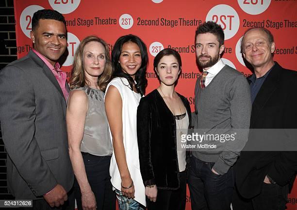 Christopher Jackson, Lisa Emery, Maureen Sebastian, Olivia Thirlby, Topher Grace, Mark Blum attending the Off-Broadway Opening Night Performance...