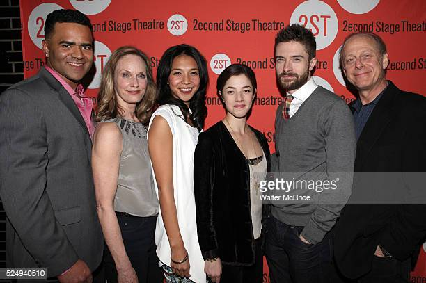 Christopher Jackson Lisa Emery Maureen Sebastian Olivia Thirlby Topher Grace Mark Blum attending the OffBroadway Opening Night Performance Party for...