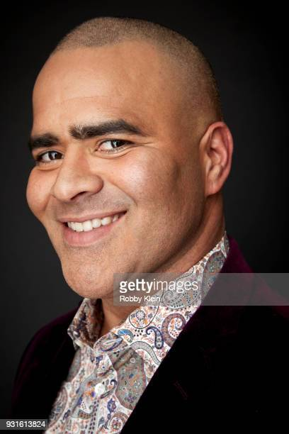 Christopher Jackson poses for a portrait at the 60th Annual GRAMMY Awards I'm Still Standing A GRAMMY Salute To Elton John at The Theater at Madison...