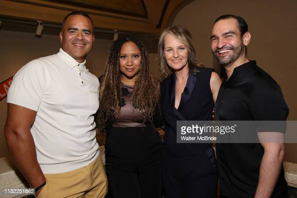 Christopher Jackson Tracie Toms Helen Hunt and Javier Munoz attend the Opening Night performance afterparty for ENCORES OffCenter production of...