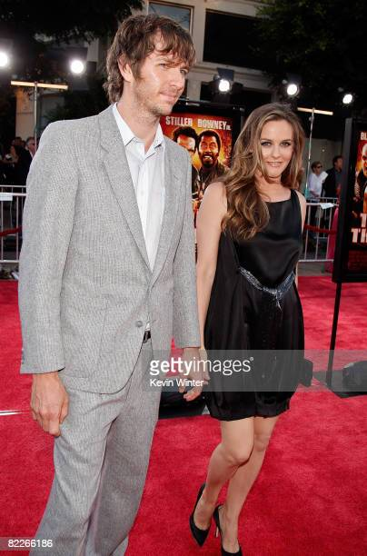 Christopher Jarecki and actress Alicia Silverstone arrive on the red carpet of the Los Angeles Premiere of 'Tropic Thunder' at the Mann's Village...
