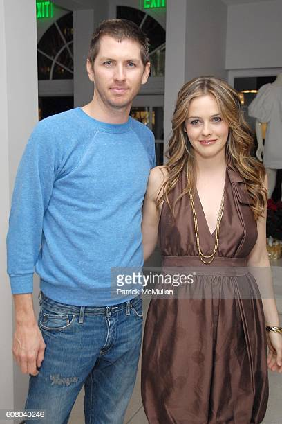 Christopher Jarecki and Alicia Silverstone attend Stella McCartney's Store Christmas Lighting Hosted By Kanye West at Beverly Hills on December 5 2006