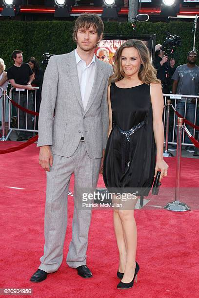 Christopher Jarecki and Alicia Silverstone attend TROPIC THUNDER LOS ANGELES PREMIER at Mann's Village Theater on August 11 2008 in Los Angeles CA