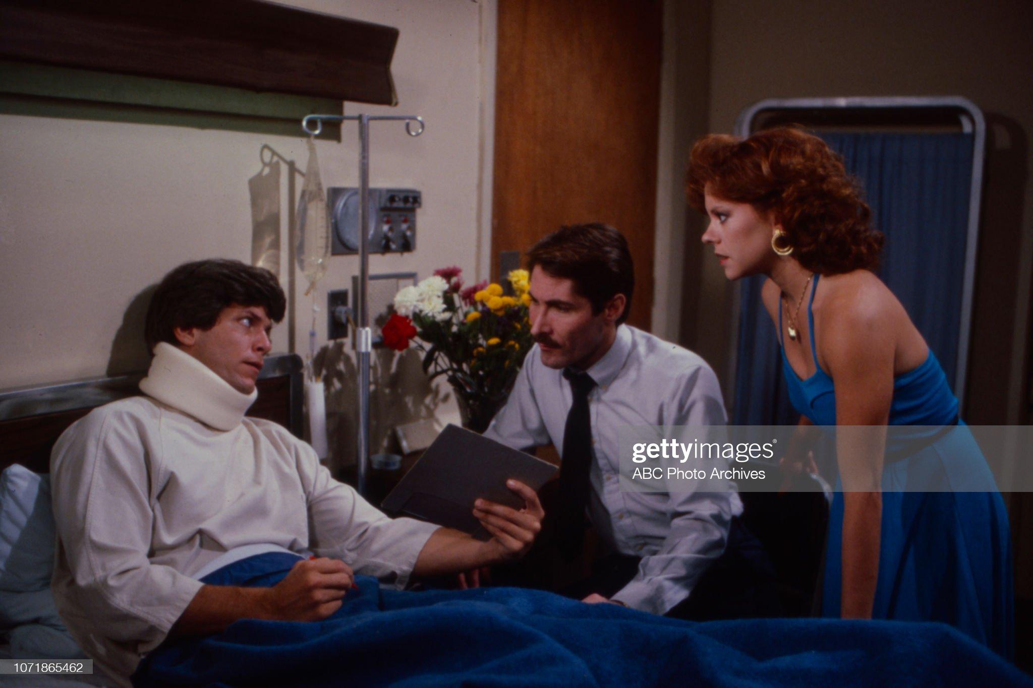 Christopher Jarrett, Wade Nichols, Karen Needle Appearing On 'Edge of Night' : News Photo