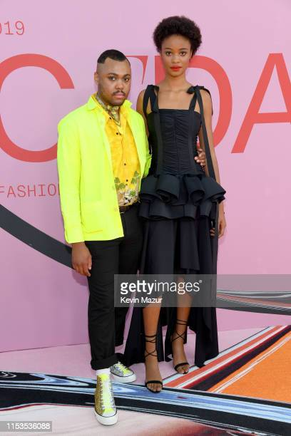 Christopher John Rogers and Ayesha Sesay attend the CFDA Fashion Awards at the Brooklyn Museum of Art on June 03 2019 in New York City