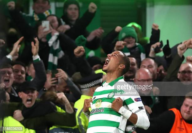 Christopher Jullien of Celtic celebrates after scoring his team's second goal during the UEFA Europa League group E match between Celtic FC and Lazio...