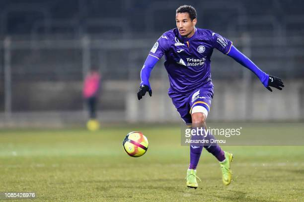 Christopher Jullien of Toulouse during the Ligue 1 match between Nimes and Toulouse at Stade des Costieres on January 19 2019 in Nimes France