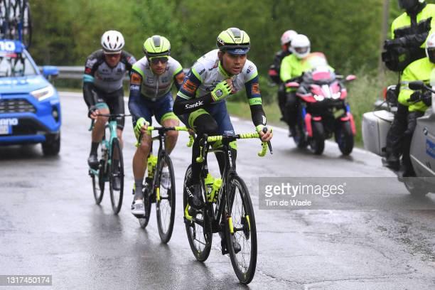 Christopher Juul Jensen of Denmark and Team BikeExchange, Quinten Hermans of Belgium & Rein Taaramae of Estonia and Team Intermarché - Wanty - Gobert...