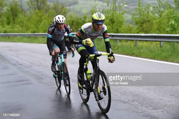 Christopher Juul Jensen of Denmark and Team BikeExchange & Rein Taaramae of Estonia and Team Intermarché - Wanty - Gobert Matériaux in the Breakaway...
